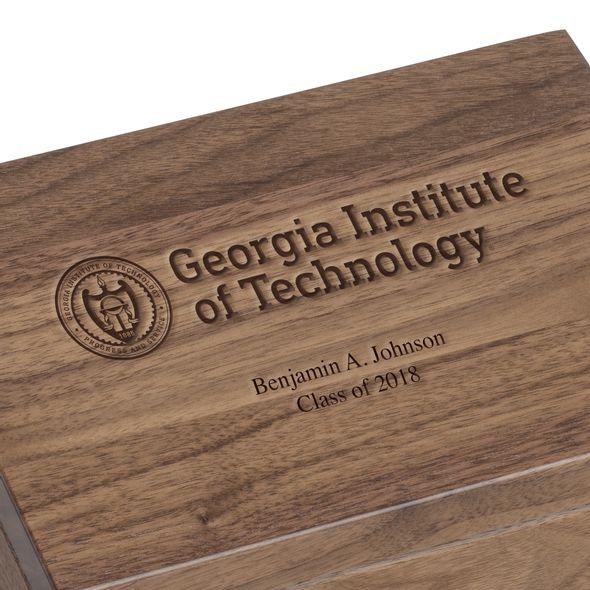 Georgia Tech Solid Walnut Desk Box - Image 2