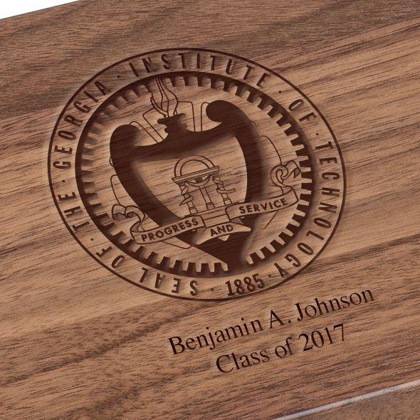 Georgia Tech Solid Walnut Desk Box - Image 3