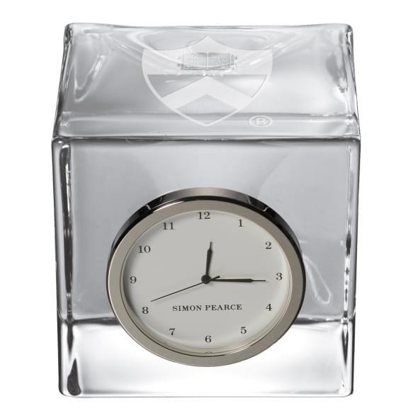 Princeton Glass Desk Clock by Simon Pearce - Image 2