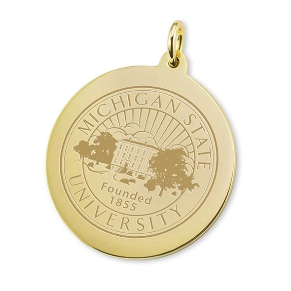Michigan State 18K Gold Charm