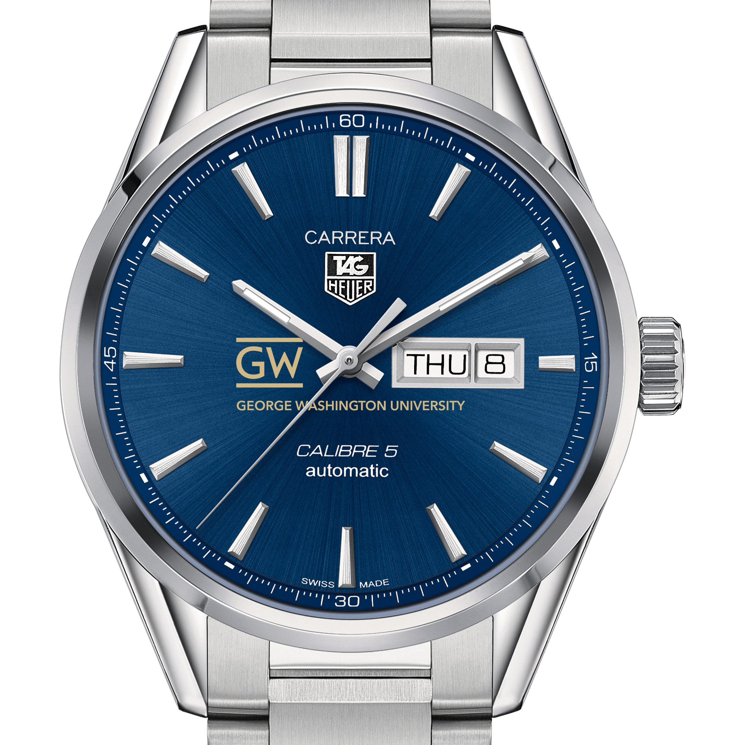 George Washington University Men's TAG Heuer Carrera with Day-Date