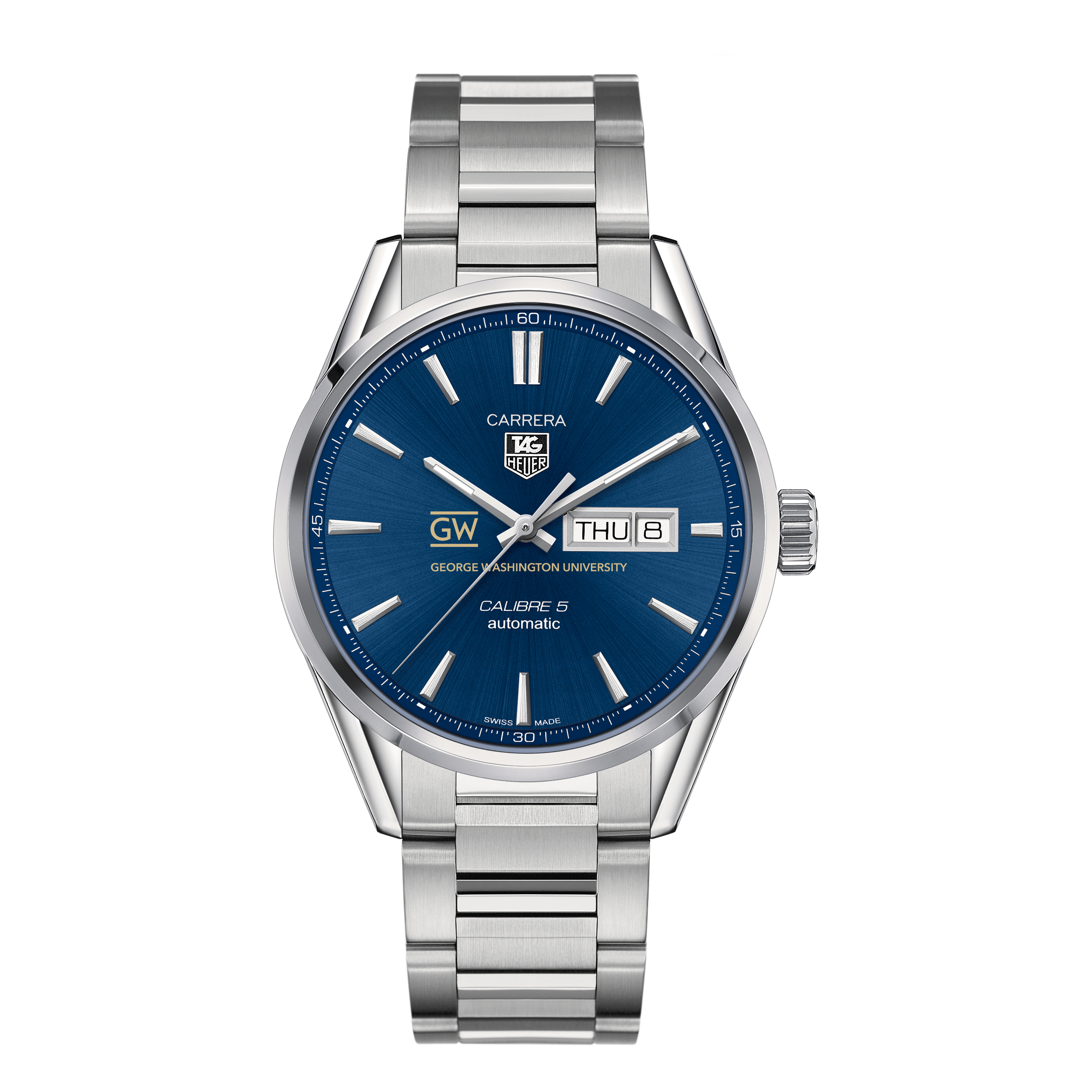 George Washington University Men's TAG Heuer Carrera with Day-Date - Image 2