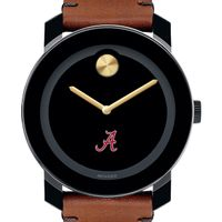 University of Alabama Men's Movado BOLD with Brown Leather Strap