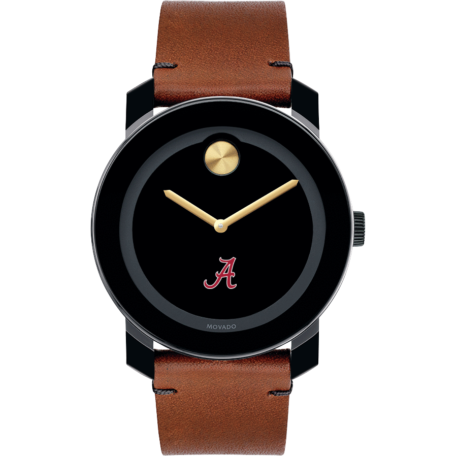 Alabama Men's Movado BOLD with Brown Leather Strap - Image 2