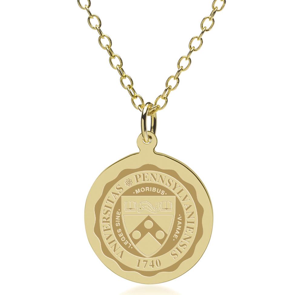 Penn 14K Gold Pendant & Chain