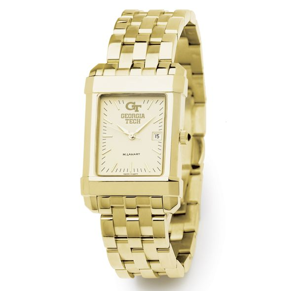 Georgia Tech Men's Gold Quad Watch with Bracelet - Image 2