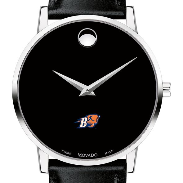 Bucknell University Men's Movado Museum with Leather Strap