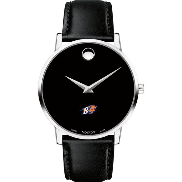 Bucknell University Men's Movado Museum with Leather Strap - Image 2
