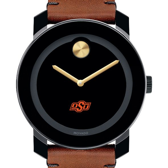 Oklahoma State University Men's Movado BOLD with Brown Leather Strap - Image 1