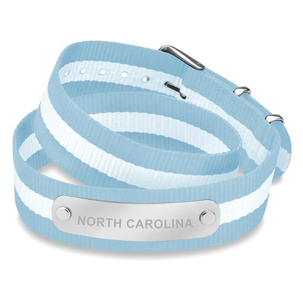 North Carolina Double Wrap NATO ID Bracelet