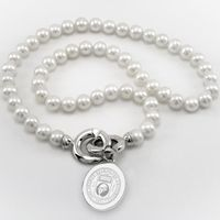 George Washington Pearl Necklace with Sterling Silver Charm