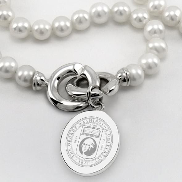 George Washington Pearl Necklace with Sterling Silver Charm - Image 2