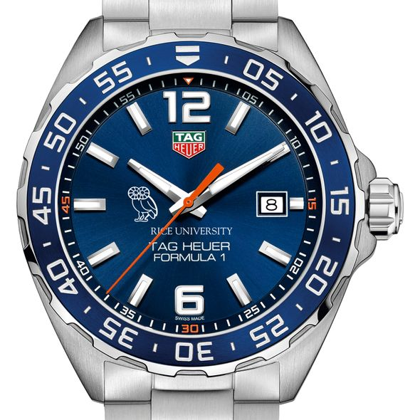 Rice University Men's TAG Heuer Formula 1 with Blue Dial & Bezel