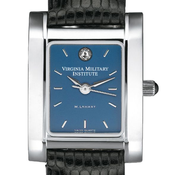 VMI Women's Blue Quad Watch with Leather Strap
