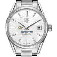 Georgia Tech Women's TAG Heuer Steel Carrera with MOP Dial