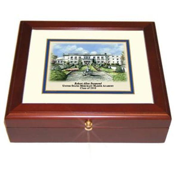 Merchant Marine Academy Eglomise Desk Box