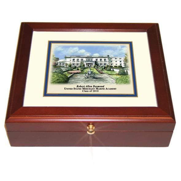 Merchant Marine Academy Eglomise Desk Box - Image 2