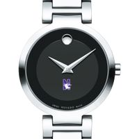 Northwestern University Women's Movado Museum with Steel Bracelet
