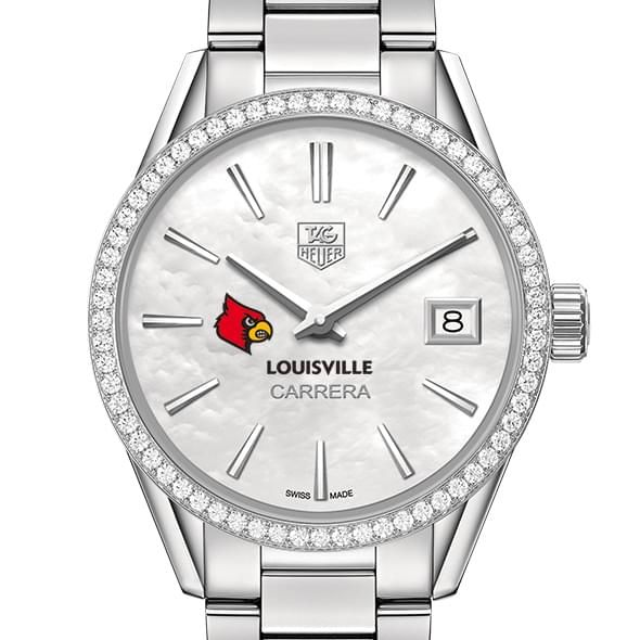 University of Louisville Women's TAG Heuer Steel Carrera with MOP Dial & Diamond Bezel