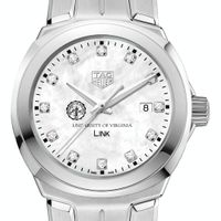 University of Virginia TAG Heuer Diamond Dial LINK for Women