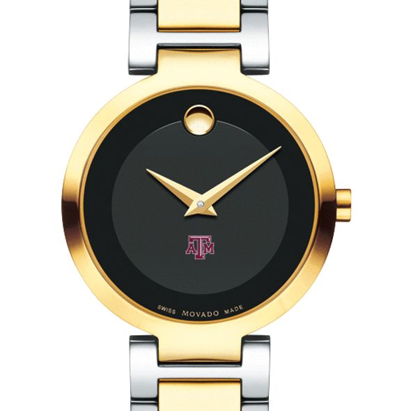 Texas A&M University Women's Movado Two-Tone Modern Classic Museum with Bracelet