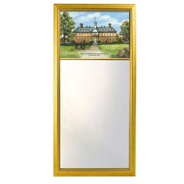 William & Mary Eglomise Mirror with Gold Frame