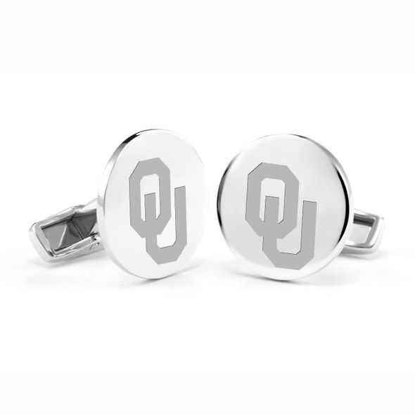 University of Oklahoma Cufflinks in Sterling Silver