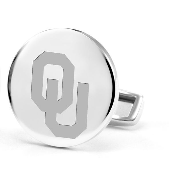 University of Oklahoma Cufflinks in Sterling Silver - Image 2