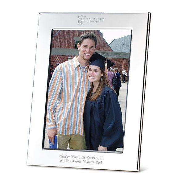 Saint Louis University Polished Pewter 5x7 Picture Frame