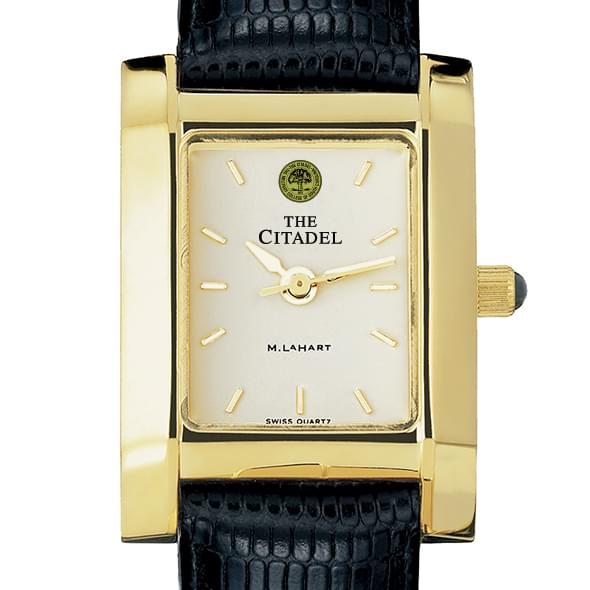 Citadel Women's Gold Quad Watch with Leather Strap