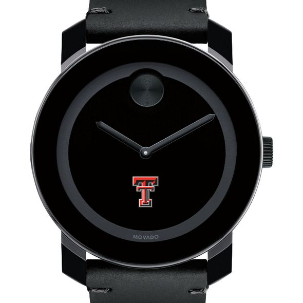 Texas Tech Men's Movado BOLD with Leather Strap