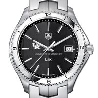 Kentucky TAG Heuer Men's Link Watch with Black Dial