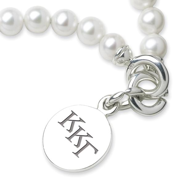 Kappa Kappa Gamma Pearl Bracelet with Sterling Silver Charm - Image 2