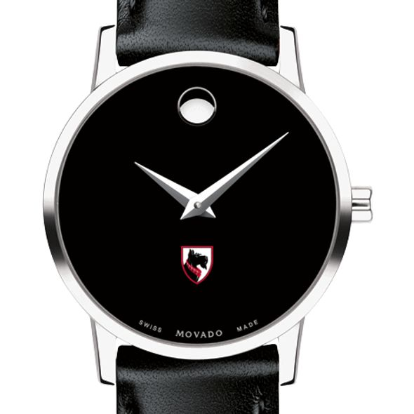 Carnegie Mellon University Women's Movado Museum with Leather Strap - Image 1