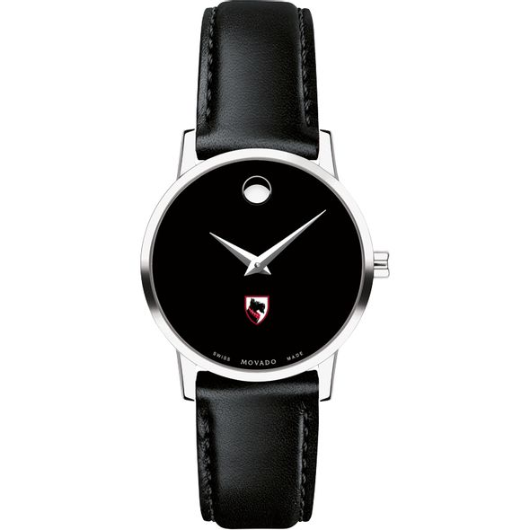 Carnegie Mellon University Women's Movado Museum with Leather Strap - Image 2