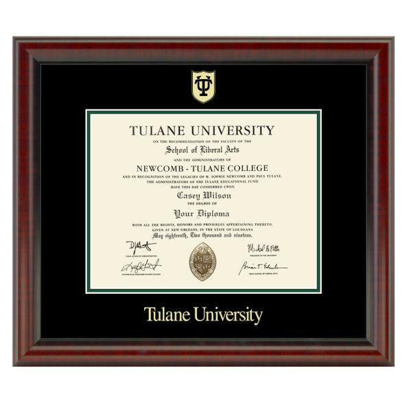 Tulane University Diploma Frame, the Fidelitas
