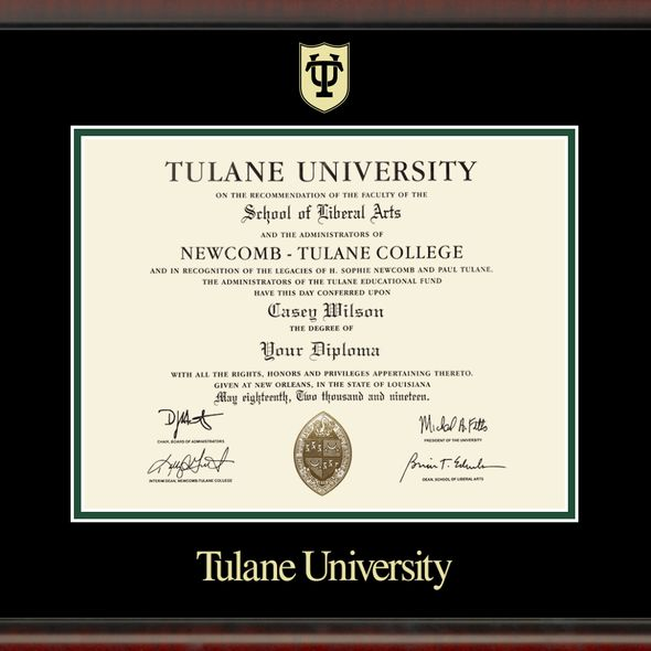 Tulane University Diploma Frame, the Fidelitas - Image 2