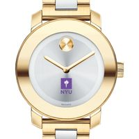 New York University Women's Movado Two-Tone Bold