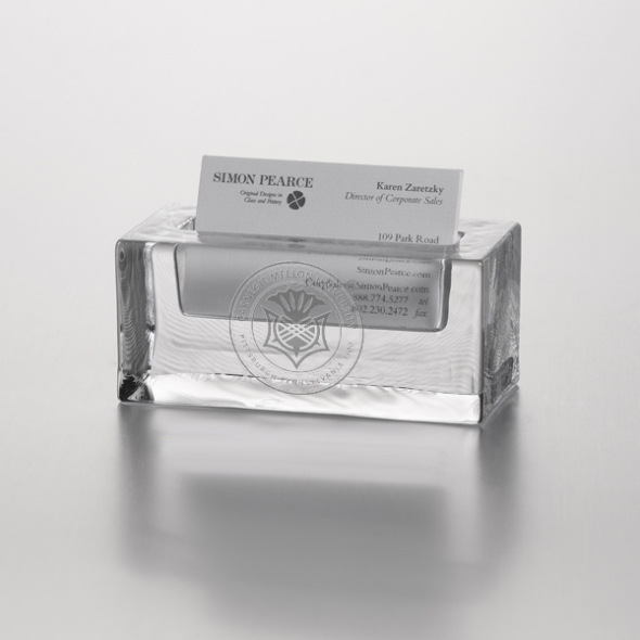 Carnegie Mellon University Glass Business Cardholder by Simon Pearce