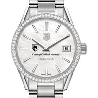 Carnegie Mellon University Women's TAG Heuer Steel Carrera with MOP Dial & Diamond Bezel