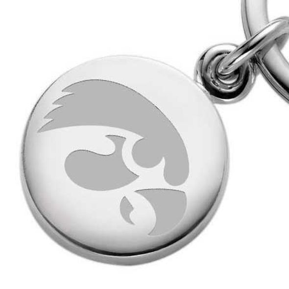 University of Iowa Sterling Silver Insignia Key Ring - Image 2