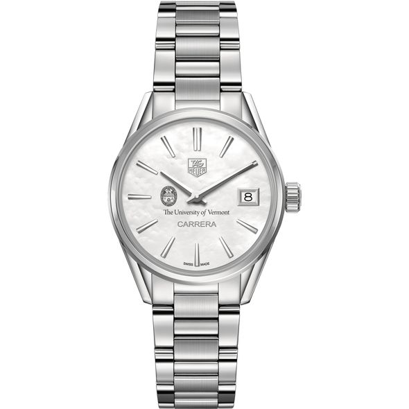 University of Vermont Women's TAG Heuer Steel Carrera with MOP Dial - Image 2
