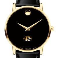 University of Missouri Men's Movado Gold Museum Classic Leather