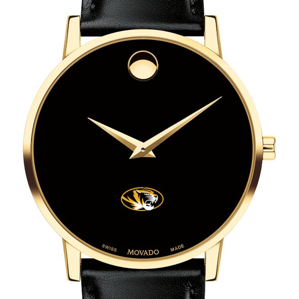 University of Missouri Men's Movado Gold Museum Classic Leather - Image 1