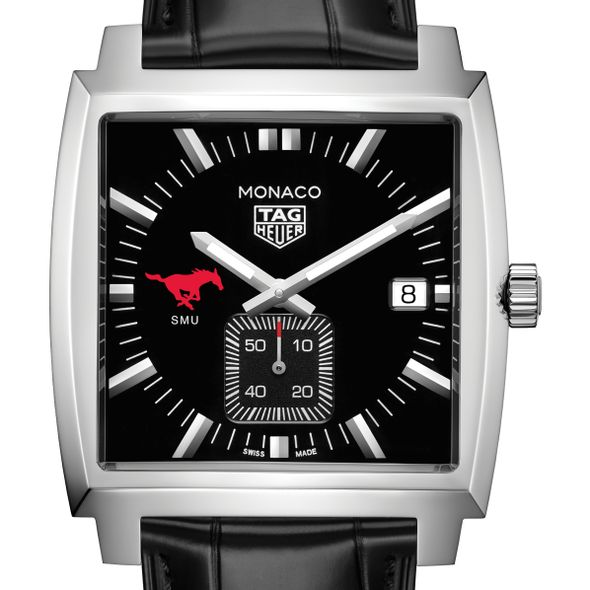 Southern Methodist University TAG Heuer Monaco with Quartz Movement for Men