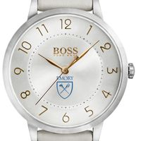 Emory University Women's BOSS White Leather from M.LaHart