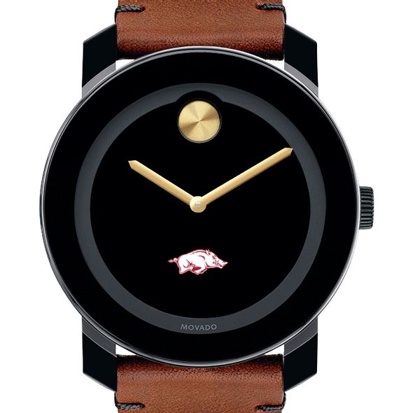 University of Arkansas Men's Movado BOLD with Brown Leather Strap