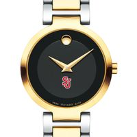 St. John's University Women's Movado Two-Tone Modern Classic Museum with Bracelet