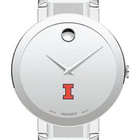 University of Illinois Men's Movado Sapphire Museum with Bracelet