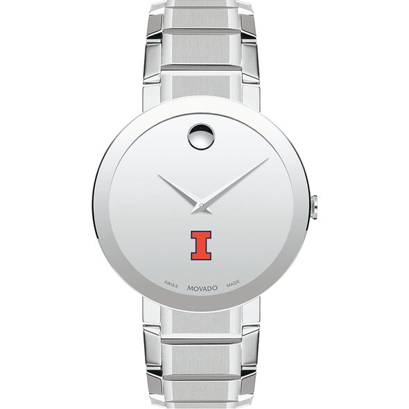 University of Illinois Men's Movado Sapphire Museum with Bracelet - Image 2